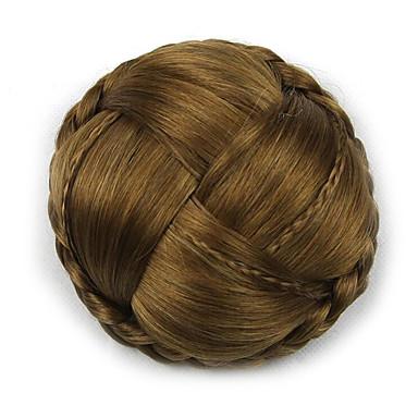 verworrene lockige Gold Europa Braut Chignons menschliches Haar capless Perücken g660232-l 2005