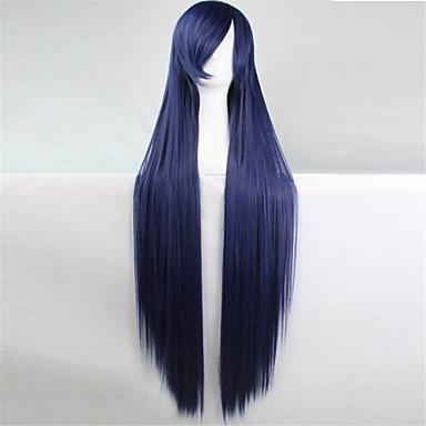 Pelucas sintéticas Mujer Recto / Liso Natural Pelo sintético Peluca Sin Tapa Azul