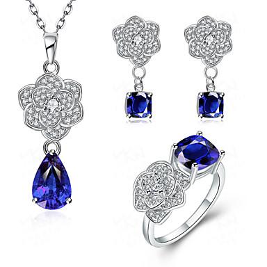 Conjunto de jóias Mulheres Aniversário / Casamento / Noivado / Festa / Diário / Ocasião Especial Conjuntos de Joalharia Zircônia Cubica