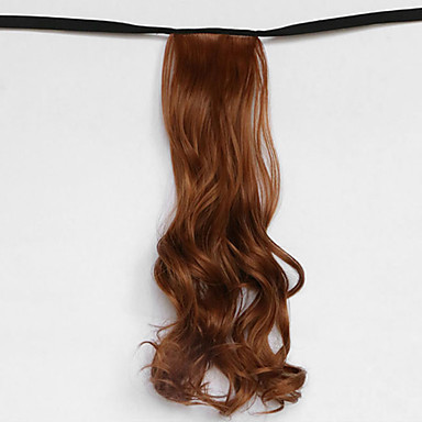 la lumière d'onde de l'eau brune synthétique du type bandage queue de cheval perruque de cheveux (couleur 30j)