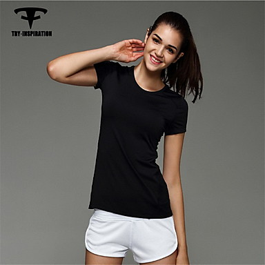 Mulheres Corrida Blusas Compressão Moda Esportiva Corrida Preto Cinzento