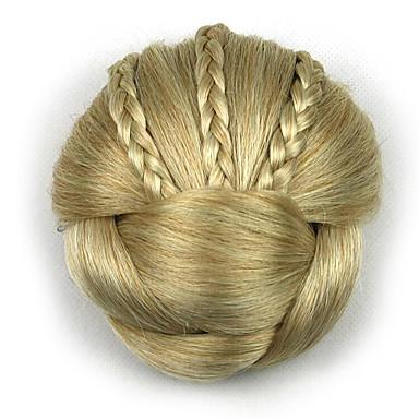 verworrene lockige Gold Europa Braut Chignons menschliches Haar capless Perücken DH104 1003