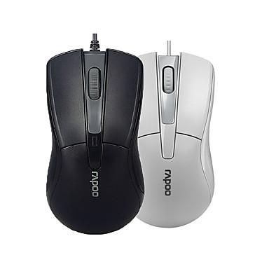 n1162 Rapoo orginal com fio mouse USB 2.0 mouses ópticos rato para jogos pro para o escritório computador pc preto / branco