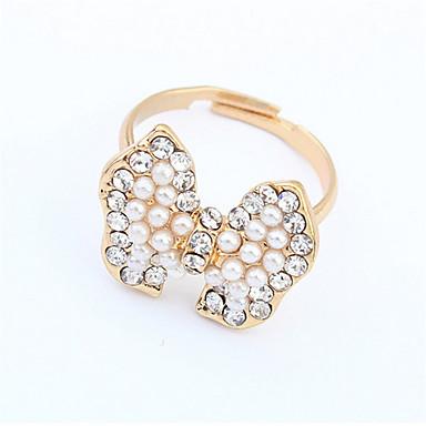 Ringe Damen / Paar / Unisex Künstliche Perle / Strass Legierung Legierung Verstellbar Gold