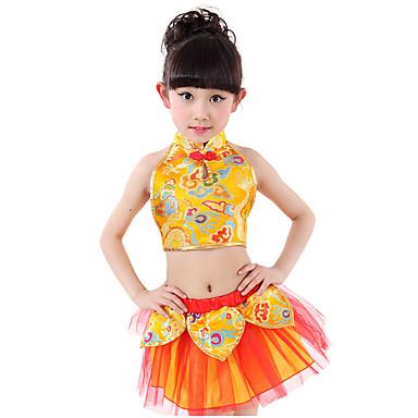 Břišní tanec Děti 2 kusy Bez rukávů Spuštený Sukně Vrchní část oděvu