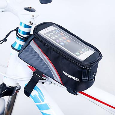 ROSWHEEL Fahrradrahmentasche Handy-Tasche 4.2 Zoll Feuchtigkeitsundurchlässig Wasserdichter Reißverschluß tragbar Touchscreen Stoßfest