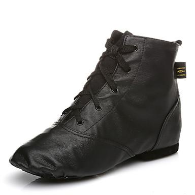 Mujer Zapatos de Jazz Cuero Botas Con Cordón Tacón Personalizado Personalizables Zapatos de baile / Rendimiento
