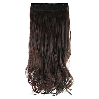 Länge Schokolade Farbe 60cm hoch Hemperature Draht Perücke Haarverlängerung synthetisches Haar