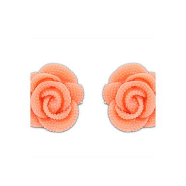 Női Beszúrós fülbevalók Bájos Party Munkahelyi Imádni való aranyos stílus Gyanta Ötvözet Rózsák Virág Ékszerek Esküvő Parti Napi