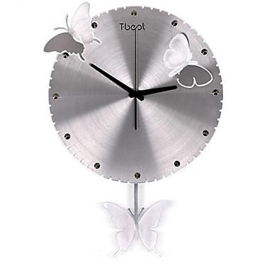 Modern/Zeitgenössisch Anderen Wanduhr,Anderen Metall Uhr