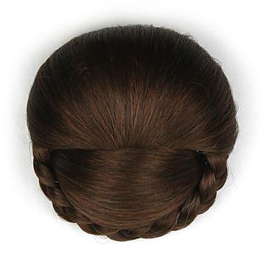 Braun Klassisch Schick & Modern Haarknoten Updo Gute Qualität Chignons/Haarknoten Synthetische Haare Haarstück Haar-Verlängerung