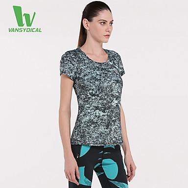 Damen Laufen T-shirt Oberteile Rasche Trocknung Videokompression Leichtes Material Schweißableitend Frühling Sommer Sportbekleidung Laufen