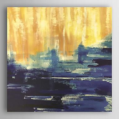 handgemaltes Ölgemälde abstrakten blauen und gelben abstrakte Kunst mit gestreckten Rahmen 7 Wand ARTS®