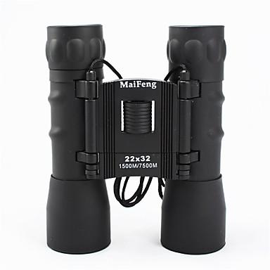 MaiFeng 22X32 mm Binóculos Alta Definição De Mão Uso Genérico Observação de Pássaros BAK4 Revestimento Múltiplo 1500M/7500MFocagem