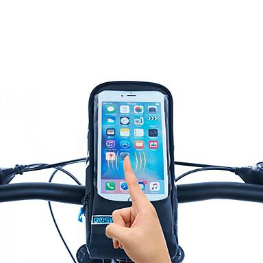 ROSWHEEL תיקים לכידון האופניים טלפון נייד תיק 5.7 אינץ ' רוכסן עמיד למים לביש עמיד ללחות עמיד לזעזועים מסך מגע רכיבת אופניים ל Iphone 8