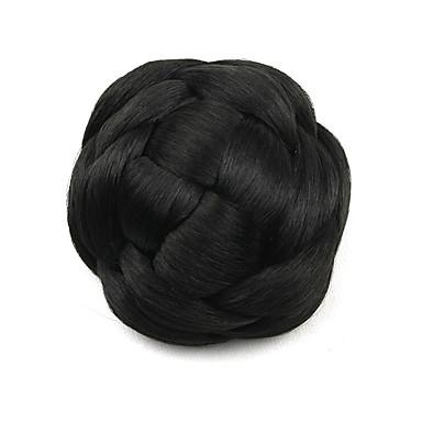 verworrene lockige schwarze europa Braut menschliches Haar capless Perücken Chignons g660205 2