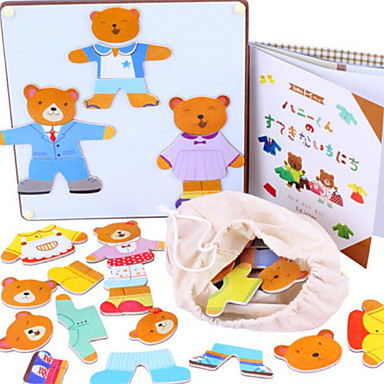 tre magnetiske bjørn skifte klær spill, baby pedagogisk / puslespill