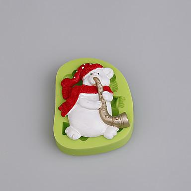 לתבנית אפייה משומנת קריקטורה Shaped שוקולד פאי עוגיה Cake סיליקון ידידותי לסביבה עשה זאת בעצמך חג המולד