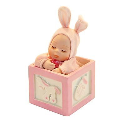 kerámia rózsaszín / kék kreatív romantikus zene doboz ajándék
