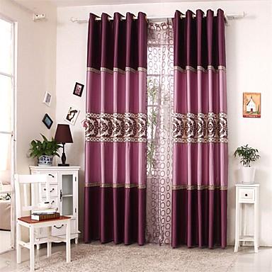 Két panel Európai Kollázs Képenként Nappali szoba Poliészter Panel Függöny Drapes
