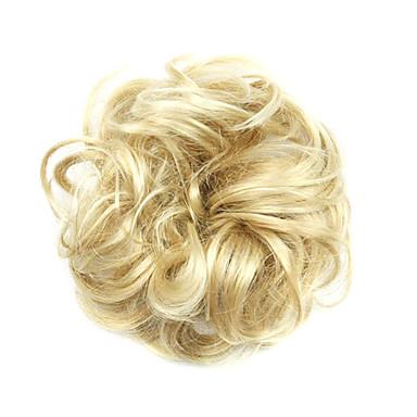 Pelucas sintéticas / Moños Rizado / Clásico Corte a capas Pelo sintético Actualizar Peluca Mujer Corta Hecho a Máquina Castaño dorado