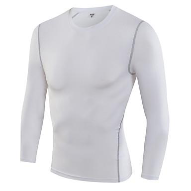 Herrn Laufshirt Langarm Rasche Trocknung Atmungsaktiv Schweißableitend T-shirt Kompressionskleidung Oberteile für Übung & Fitness