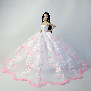חתונה שמלות ל ברבי דול שמלות ל הילדה של בובת צעצוע