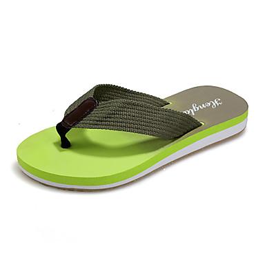 Uniseks Schoenen PU Zomer Comfortabel Slippers & Flip-Flops Voor Causaal Zwart Geel Groen