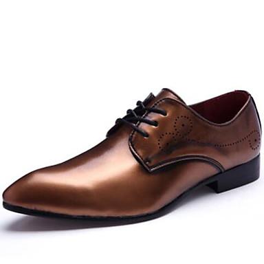 גברים נעליים חומרים בהתאמה אישית אביב קיץ סתיו חורף נוחות נעלי אוקספורד שרוכים עבור חתונה מסיבה וערב שחור מוזהב