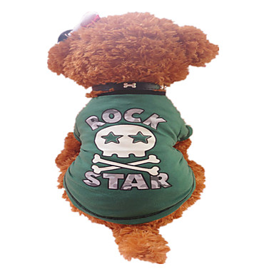 Dog Shirt / T-Shirt Dog Clothes Breathable Letter & Number Green Costume For Pets