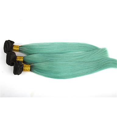 baratos Extensões de Cabelo Natural-3 pacotes Cabelo Brasileiro Liso Clássico 10A Cabelo Virgem Cabelo Humano Ondulado Âmbar Tramas de cabelo humano Extensões de cabelo humano / Reto