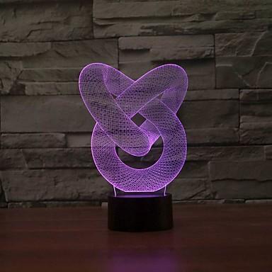 nouvelle génération moderne 3d étonnante a conduit lampe de table - bureau ou nuit 3dlamp lumière