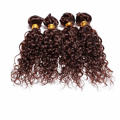 Człowieka splotów włosów Włosy brazylijskie Water Wave 4 elementy sploty włosów