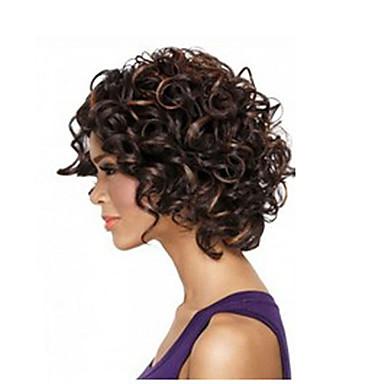 Pelucas sintéticas Afro / Kinky Curly Pelo sintético Peluca afroamericana Peluca Mujer