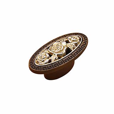 cabinet lida com alças de cerâmica
