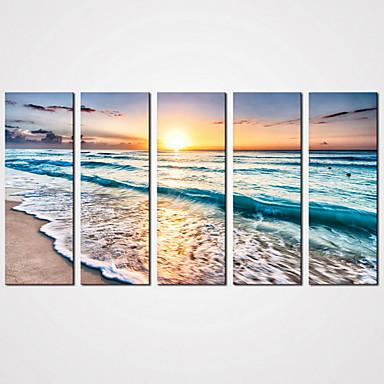 Landschaft Freizeit Realismus Modern,Fünf Panele Leinwand Horizontal Druck Wand Dekoration For Haus Dekoration