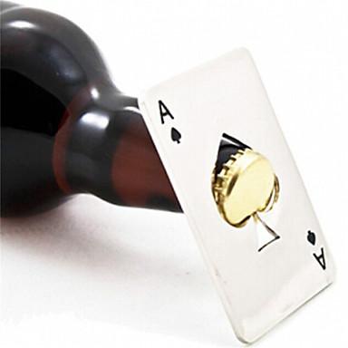 אס כרטיס מסוגנן חם למכירה 1pc פוקר משחק חדש של מתנה פותחן מכסה הבקבוק בירה סודה כלי בר אתים