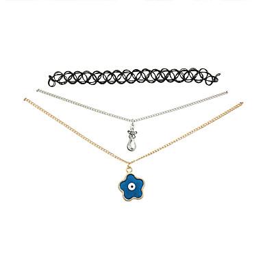 Damen Halsketten Anhängerketten Harz Aleación Quaste Modisch Vintage Einstellbar bezaubernd Blau Schmuck Hochzeit Party Alltag Normal1