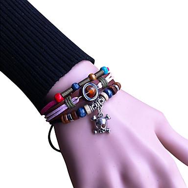 Bracelet Bracelets en cuir Alliage / Cuir Vintage Quotidien / Décontracté Bijoux Cadeau Incarnadin,1pc