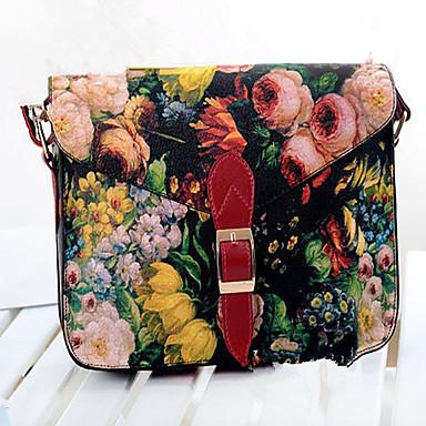 Damen Taschen PU Schulranzen für Veranstaltung / Fest Normal Frühling Sommer Schwarz Rot