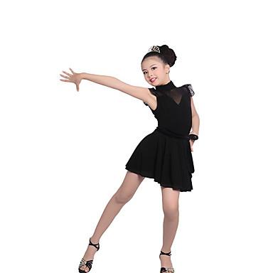 Balé Roupa Crianças Actuação Algodão / Renda Franzido 2 Peças Manga Curta Natural Saia / Top 120:54cm,  130:56cm,   140:58cm,   150:60cm