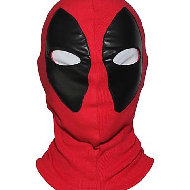 maravilha super-herói máscara deadpool tecido respirável couro falso rosto cheio máscara de Halloween cosplay manter chapéu balaclava