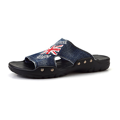 Masculino-Chinelos e flip-flops-Conforto-Rasteiro--Jeans-Casual