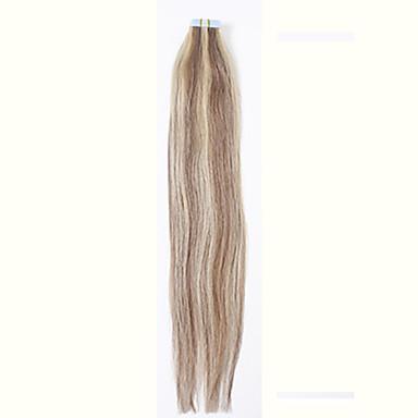 # 27 / 613double piirretty nauha hiusten pidennykset 100% Remy Intian hiuksista musta ruskea vaalea pu iho kude 20kpl edistäminen