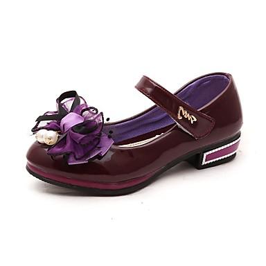 Saltos-Conforto Light Up Shoes-Salto Baixo-Azul Rosa Roxo Vermelho-Couro Envernizado-Casamento Social Festas & Noite