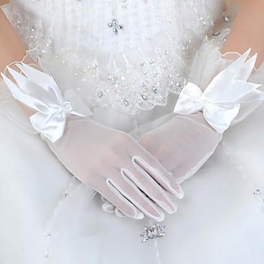 Tüll Handgelenk-Länge Handschuh Brauthandschuhe / Party / Abendhandschuhe With Schleife / Blumig