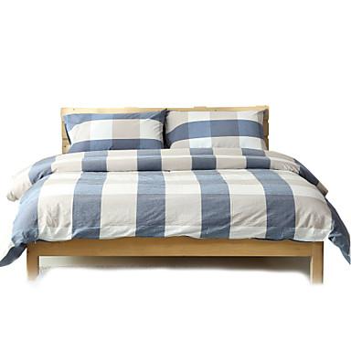סטי שמיכה פרחוני 4 חלקים כותנה חוט צבוע כותנה 4 יחידות (1 כיסוי שמיכה, 2 כיסוי כרית, 1 סדין)
