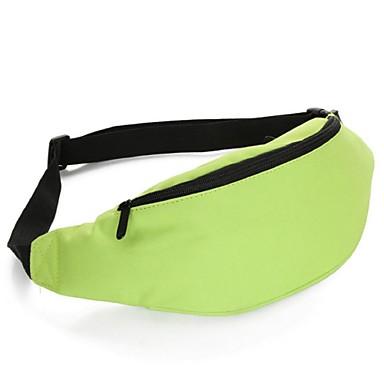 Mulher Bolsas Todas as Estações Fibra Sintética Bolsa de Cintura com para Preto Amarelo Verde Azul