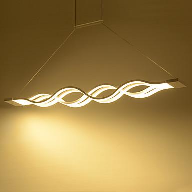 4-Licht Linear Pendelleuchten Moonlight Andere Metall Acryl Ministil, LED 110-120V / 220-240V Wärm Weiß / Weiß / Dimmbar mit Fernbedienung Inklusive Glühbirne / integrierte LED