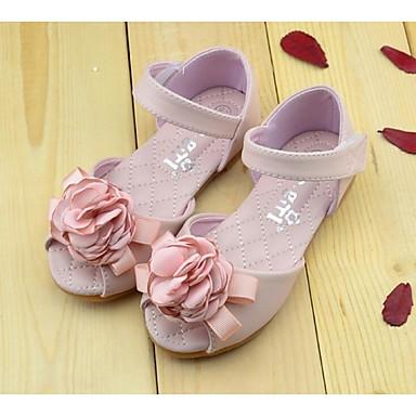 Rose / Blanc) -Faux Cuir-Confort / Sandales